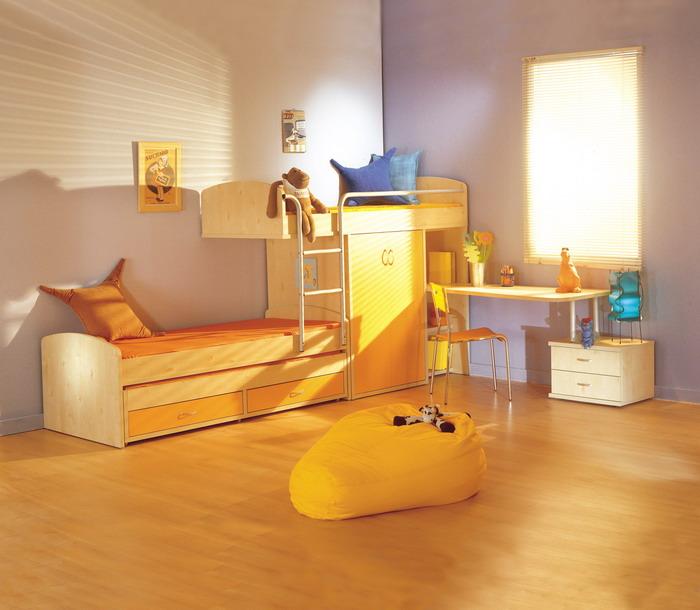 Children Furniture Barzilay Train Bed 211